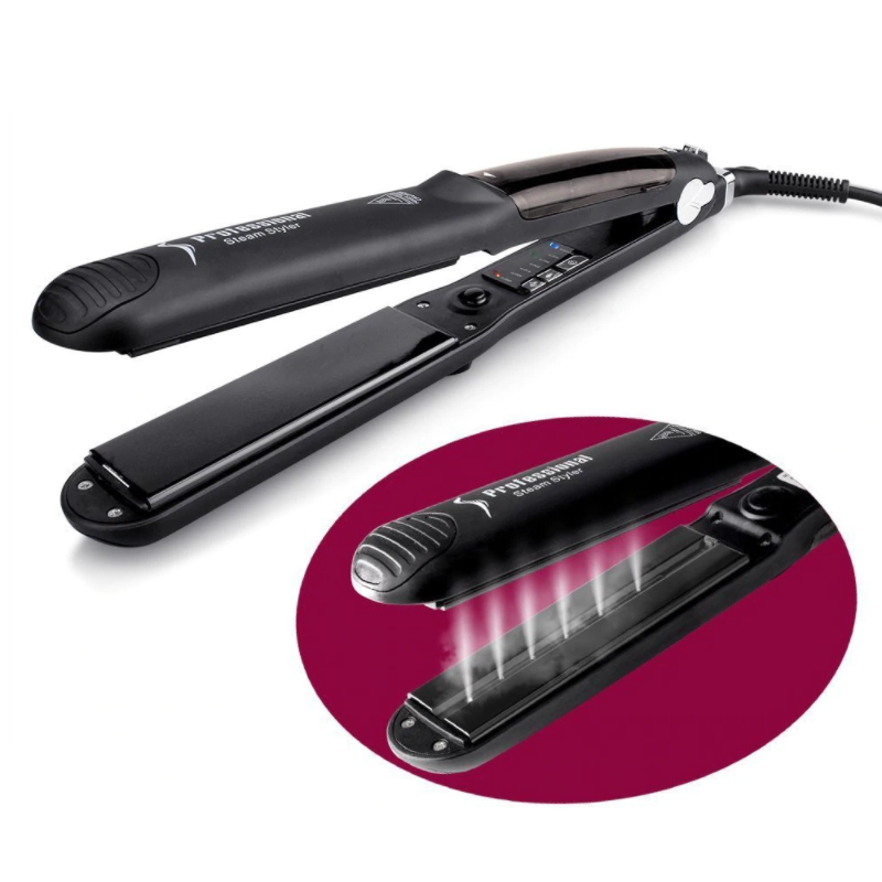 Steam Hair Straightener Curler Ceramic Tourmaline Flat Iron Professional Steampod Straighteners Hair Iron Salon Styling Tool hair curler lcd steam hair straightener ceramic flat iron wet dry straightening iron hair iron steamer styling tool b62