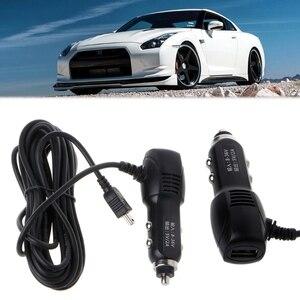 Image 5 - Port Mini USB 5 V 2A ładowarka samochodowa Adapter do samochód DVR pojazdu ładowania w/3.5 m kabel