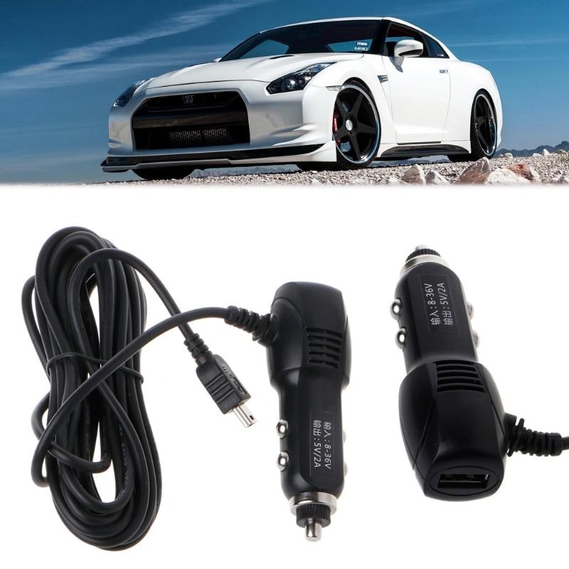 Image 5 - Мини USB порт 5 в 2A автомобильное зарядное устройство адаптер для автомобиль dvr зарядка с кабелем 3,5 м-in Кабели, адаптеры и разъемы from Автомобили и мотоциклы