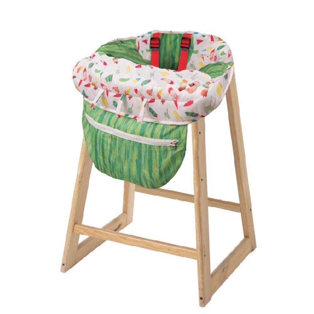 Kids Children'shopping Cart Trolley Cushion Cartoon Caterpillar Game Pad Dining Chair Cushion Case Safe Portable Pad