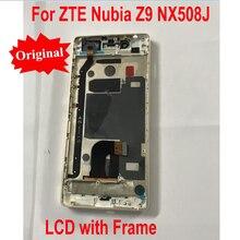 100% Garanti Orijinal dokunmatik LCD ekran Panel Ekran Digitizer Meclisi ile Çerçeve Için Çerçeve ile ZTE Nubia Z9 NX508J Mobil Sensör Parçaları