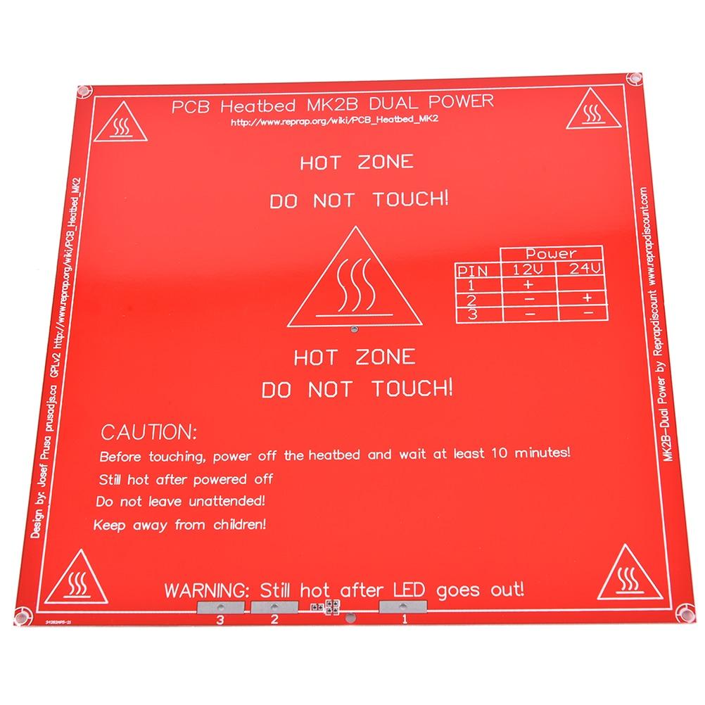 RepRap 3d-drucker dual power PCB Heatbed MK2B Wärme Bed Heißen Platte 12 V 24A