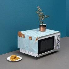 PEVA микроволновый пылезащитный чехол сумка для микроволновой печи крышка для печи полотенце масляная печать водонепроницаемый пылезащитный чехол предметы домашнего обихода 86*35 см
