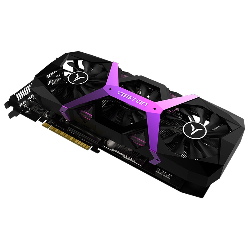 Yeston Graphics Card Radeon RX590 8G GDDR5 256bit PCI Express x16 3 0 Video Gaming Graphics Card DVI HDMI 3 DP for Desktop in Graphics Cards from Computer Office
