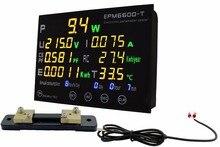 EPM6600 T Externe Shunt 50A/10kw / Multicolour Digitale Ac Energie Meter Met Thermometer/Kwh Meter