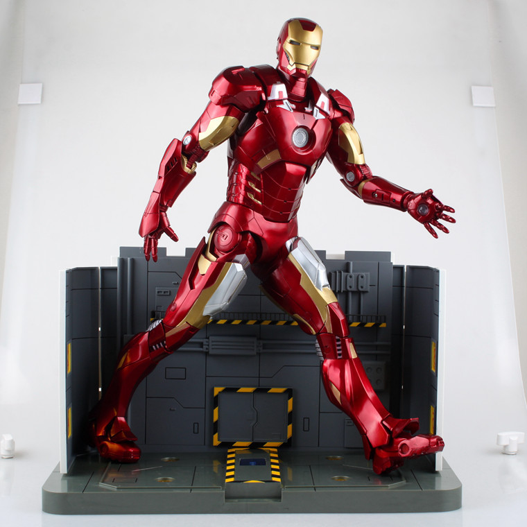 Marvel Avengers Iron Man Figure MK7 Red Ironman Toys Plus Size 45cm 18 цены онлайн