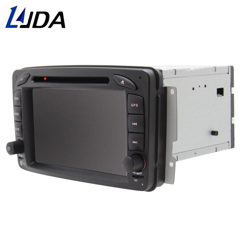 LJDA 2 Din Car DVD Player for Mercedes Benz W203 W208 W209 W210 W463 W168  ML W163 W463 Viano W639 Radio bluetooth Gps navigation