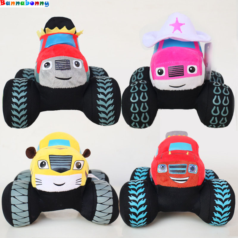 18CM Blaze and the Monster Machines stuffed car plush toy stuffed animal plush car Monster Machines for kids gift music and machines