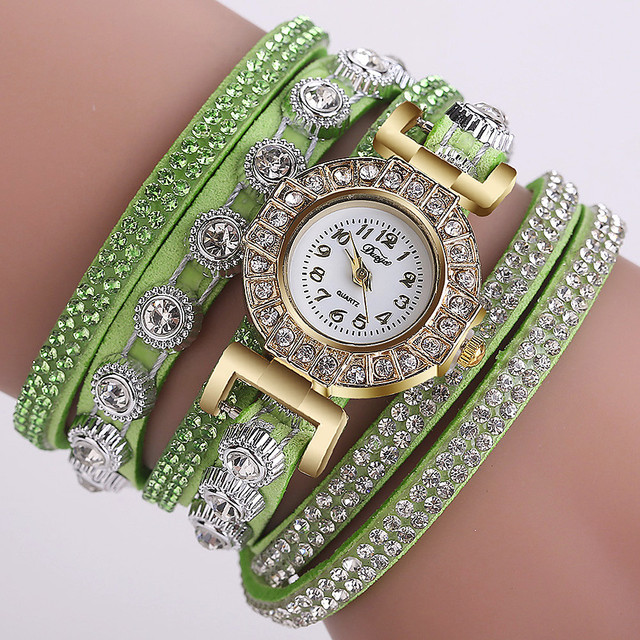 Aimecor Women Bracelet Watch Fashion Casual Analog Quartz Women Rhinestone Watch