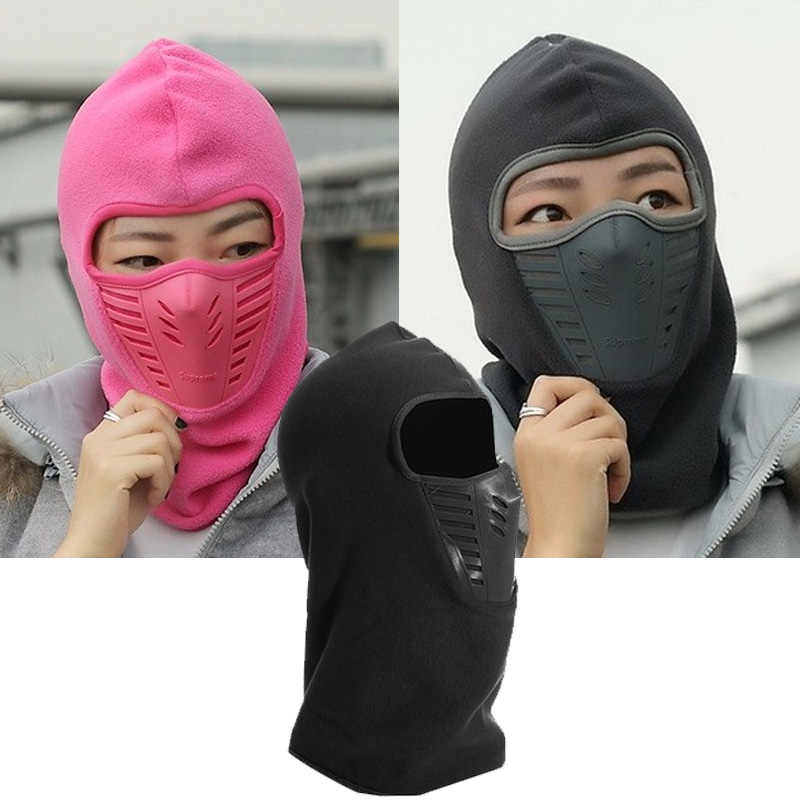 281eddf776c 2017 Winter Warm Full Face Mask Hat Cover Windproof Thermal Fleece  Balaclava Scarf Hood Men Women
