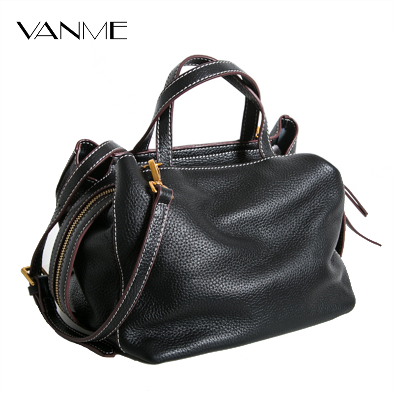 Elegant Genuine Leather Bag for Women Luxury Brand Designer Real Leather Soft Handbags Ladies Casual Shoulder Messenger Bags american luxury genuine leather women shoulder bag fashion brand designer cowhide women real leather women bag gifts for mother