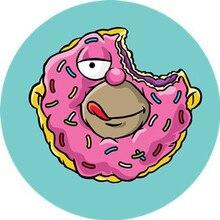 Bitten Doughnut Pop Socket