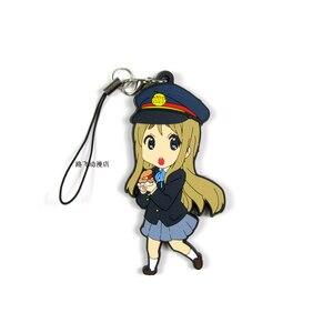 Image 4 - K ON Hirasawa Yui Akiyama Mio qtaka Ritsu Nakano Azusa Yamanaka saw ako Action Figure Anime Model ciondolo portachiavi in gomma 6cm