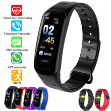Купить с кэшбэком 2019 New Sport Smart Bracelet Social information reminder LED Color Screen Fitness Tracker Pedometer Waterproof Smart Watch+BOX