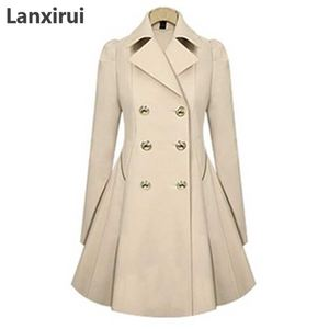 Image 5 - Especially Female Coat England Style Women Spring Double Breasted Long Trench Coat Overcoat Raincoat Windbreaker Coats 5XL PLUS