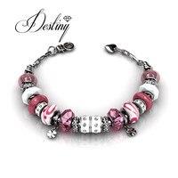 Destiny Jewellery Charm Bracelets 3 Colors Fashion Bracelets Made With Swarovski Elements