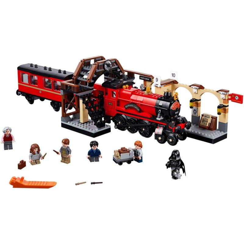 Новый Харри Поттер Legoinglys 75955 Хогвартс Экспресс набор поезд строительные блоки кирпичи детские игрушки Рождественский подарок