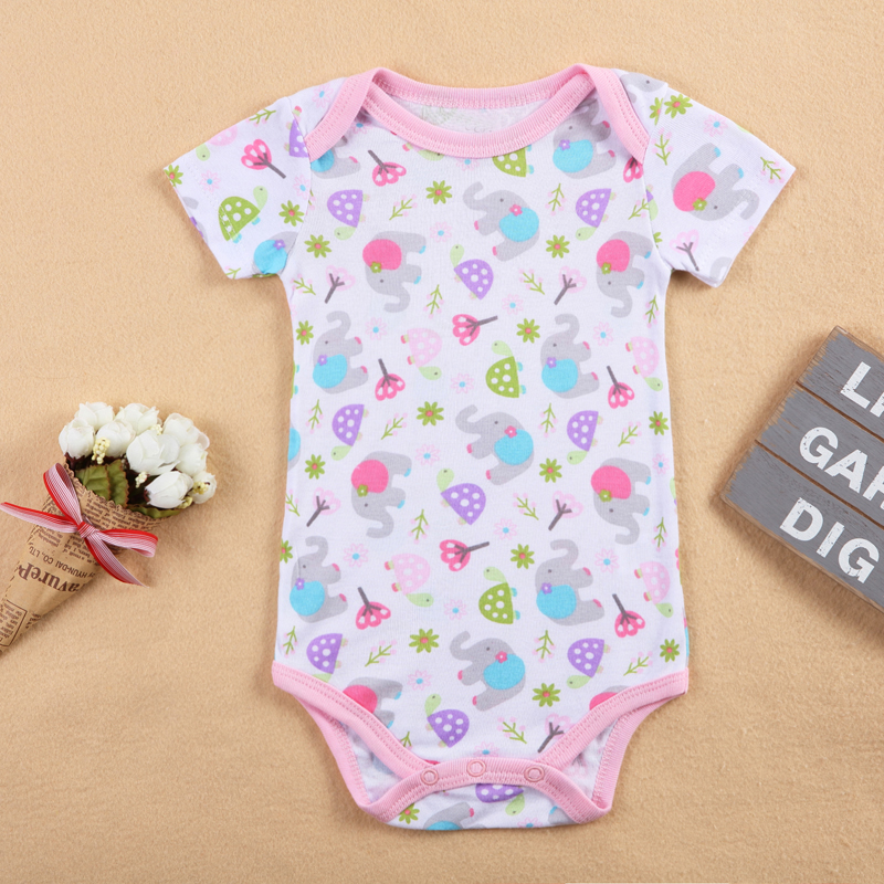 SexeMara Hot Sale Լեոպարդ Կարճ թևիկներ Baby Romper 10 ոճը Առկա է մանկական հագուստ Menina Newborn Girl Baby Costume