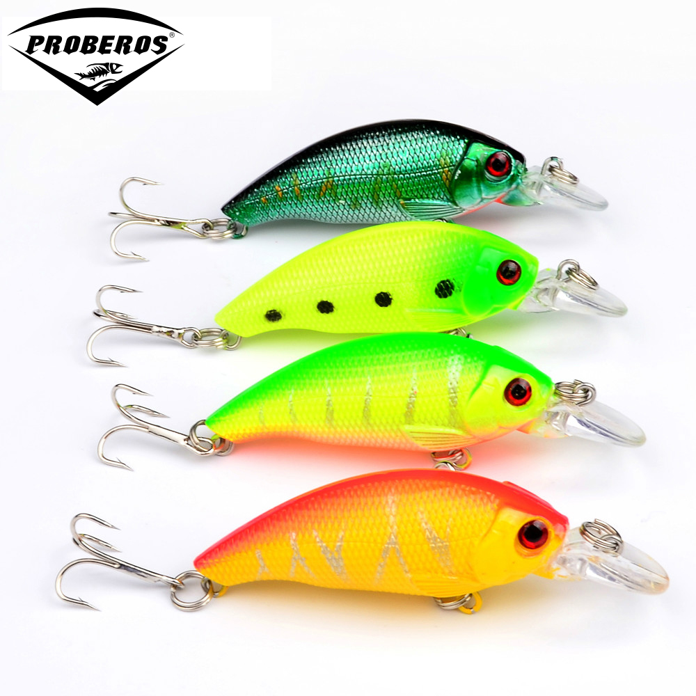 8pclot Hot 4color 8.3g7.5cm fishing Lure VIBRATION fishing bait,fishing hard bait hard bait lure fishing tackle