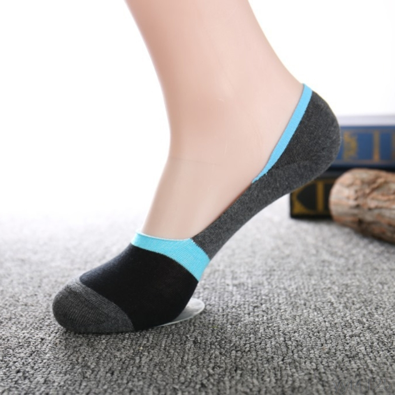 1pairs socks, slippers men show no 2018 thin invisible moccasins striped cotton anti odo ...