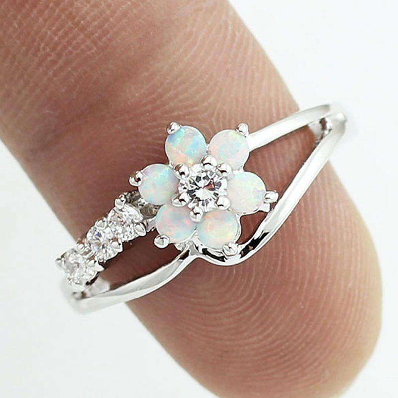 High Quality Flower Wedding Engagement Ring For Woman 2019 Hot Style  Girls Rings Jewelry