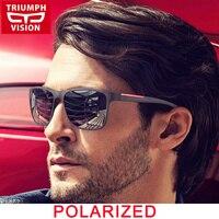 TRIUMPH VISION Black Square Sun Glasses For Men Gradient UV400 Sunglasses Men Brand Designer 2017 New