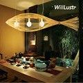 Willlustr бамбуковая Подвесная лампа  большая рыба  дерево  подвесной светильник ручной работы  естественное подвесное освещение для отеля  рес...