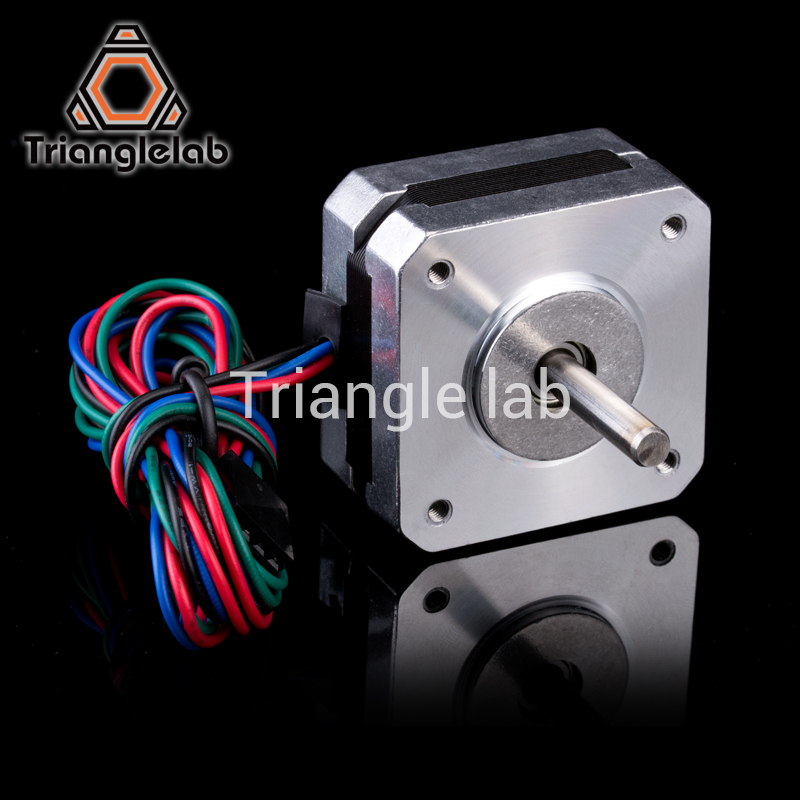 Free shipping Trianglelab titan Stepper Motor 4-lead Nema 17 22mm 42 motor 3D printer extruder for J-head bowden reprap mk8 trianglelab 3d printer titan extruder new metal gear hobb hardened steel free shipping reprap mk8 i3