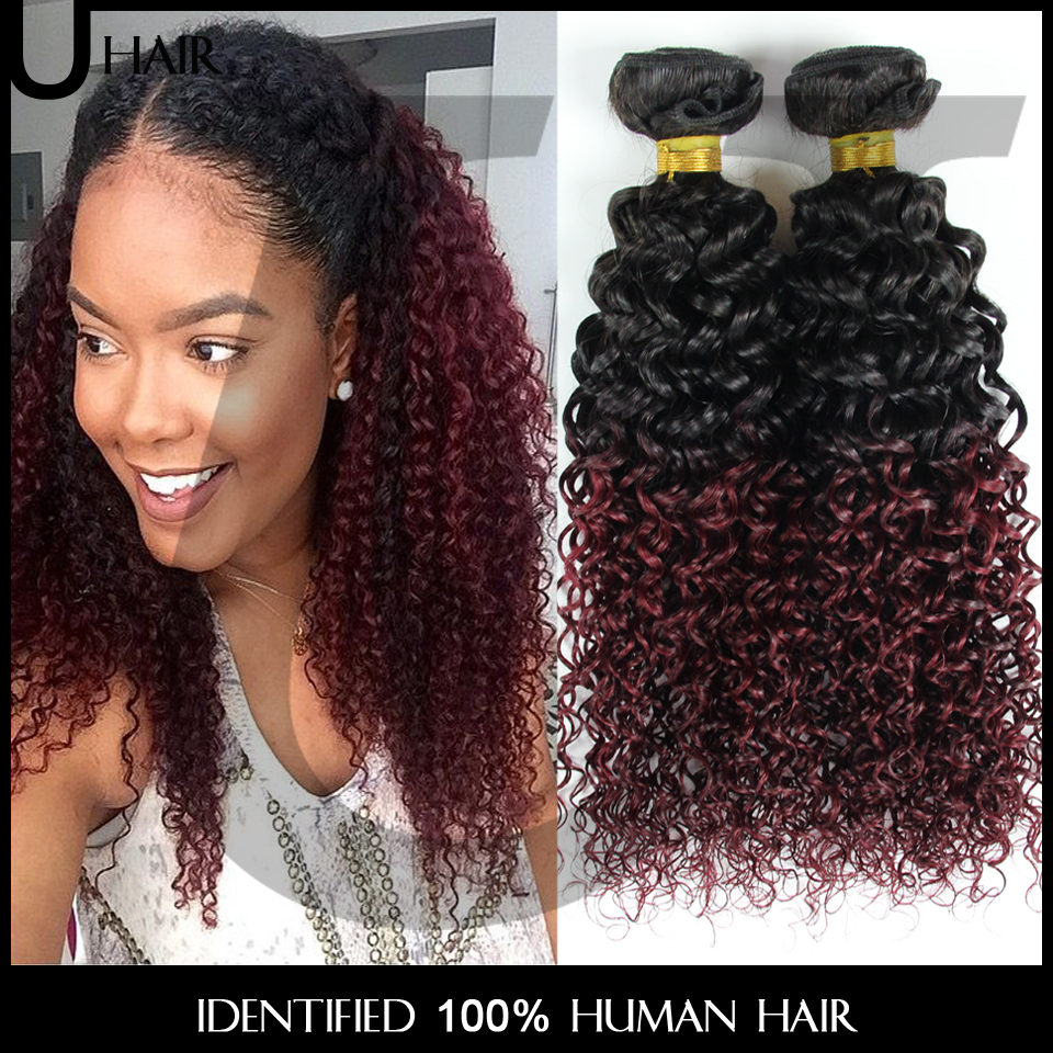 Brazilian ombre hair extensions ombre curly hair 3pcs wavy ombre brazilian ombre hair extensions ombre curly hair 3pcs wavy ombre remy human hair 10 30 two tone 1bburgundy red wine hair 4jc01 in hair weaves from hair pmusecretfo Image collections