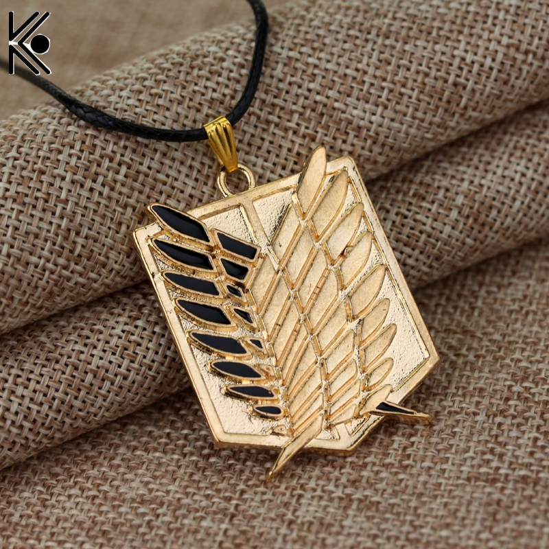 Attack on Titan New fashion naruto necklace jewelry Pendant maxi long necklace Leather jewelry for men Christmas gift