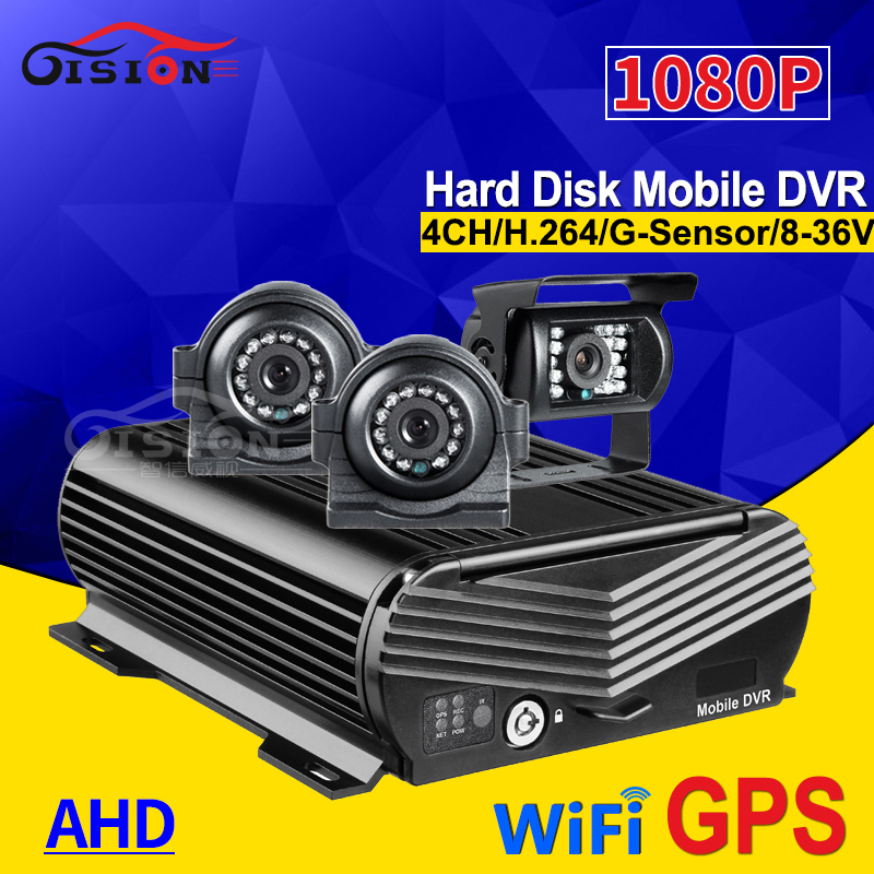 G-sensor In Tempo Reale A Distanza 4CH HDD GPS Wifi Dvr Mobile, 2.0MP Metallo Turck Macchina Fotografica, 500 gb Hard Disk Bus Auto Mdvr Video Recorder di I/OG-sensor In Tempo Reale A Distanza 4CH HDD GPS Wifi Dvr Mobile, 2.0MP Metallo Turck Macchina Fotografica, 500 gb Hard Disk Bus Auto Mdvr Video Recorder di I/O