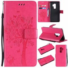ФОТО maosenguoji embossing tree cat leather case mobile phone case for samsung galaxy c5 c7 a310 a510 a710 j5 j7prime j3 pro business