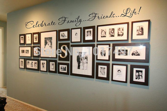 Online Shop Family Wall Quote Decal For Photo Background Wall ,Friends.Life  Celebrate Family Vinyl Wall Art Lettering Decal Stickers,f2064 | Aliexpress  ...