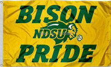 NCAA NDSU Bison Pride Flag Banner Yellow New 3x5FT 90x150CM Polyester 9469, free shipping