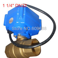 DN32,1 1/4 Brass Mini Electric Ball Valve Control Way CR01 CR05,Voltage 12V 3 6V Motorized Valve