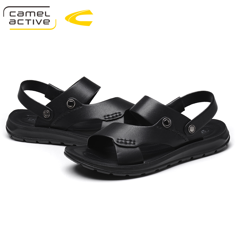 Camel Active Brand Summer Casual Male Sandals For Men Shoes Genuine Leather Quality Walking Beach Comfortable Designer Sandals 3