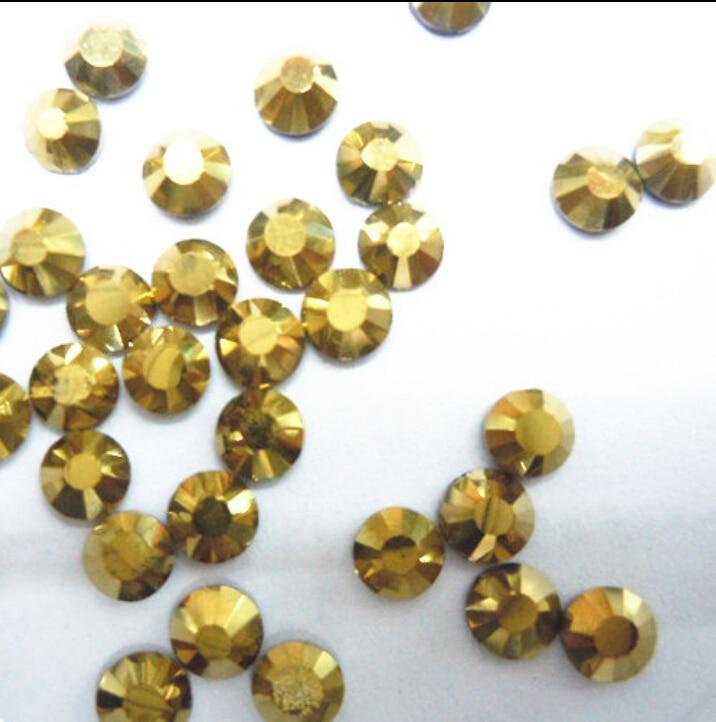 Super Shiny 1440p SS10 2.8mm crystal Murum Gold Rhinestones For ... 9b04619fac27