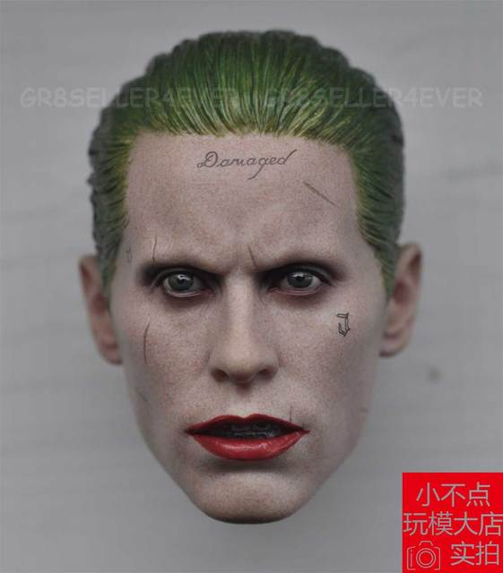 0c36df564b8 Custom Jared Leto Joker 1 6 Head Sculpt for Hot Toys Arkham Asylum Suicide  Squad