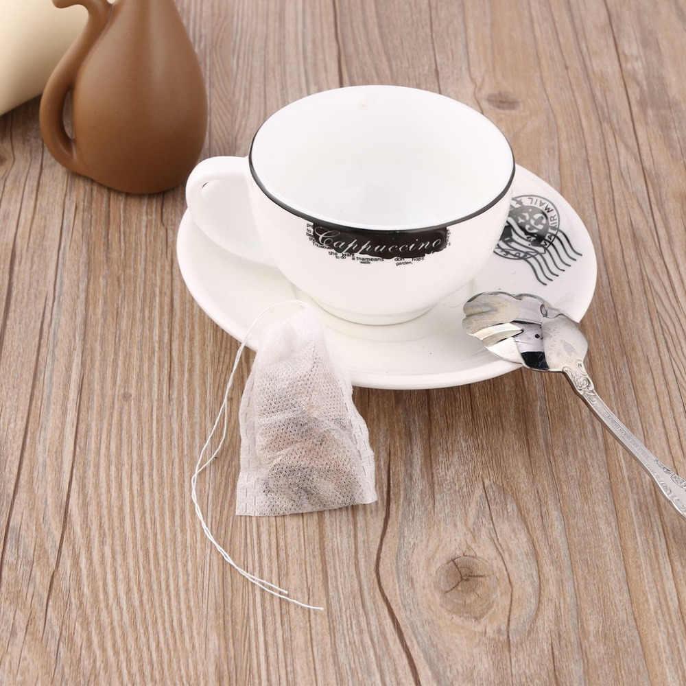 100 pz/lotto Vuoto Bustine di Tè String Guarnizione Termica Filtro di Carta Herb Allentato Bustine di Tè Bustina di tè Per La Casa e La Necessità di Viaggio