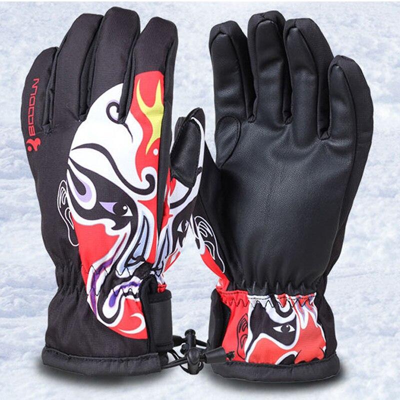 ФОТО Men Skiing Gloves Winter Sports Women Waterproof Windproof Cycling Ski Snowboard Gloves Warm mens Snowboard Mittens