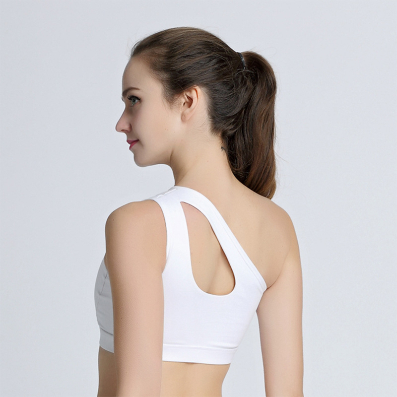 1c48e37951e7c Aliexpress.com   Buy 2017 Breathable Sports Bras For Female Bh Gym Lulu  Yoga One Shoulder Design Gym Women Fitness Running Sportwear Top from  Reliable women ...