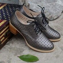 Sandalias de cuero genuino de vaca zapatos casuales de señora zapatos  oxford hechos a mano vintage para mujeres Sandalias Zapato. a415a9a9726a