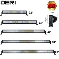 5D 52 50 42 32 22 Inch 300W 288 240 180 120W Straight LED Work Light
