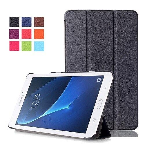 Pour Samsung Galaxy Tab Un A6 7.0 T280 T285 SM-T280 SM-T285 magnétique Folio stand Intelligent PU housse en cuir + écran film + stylus