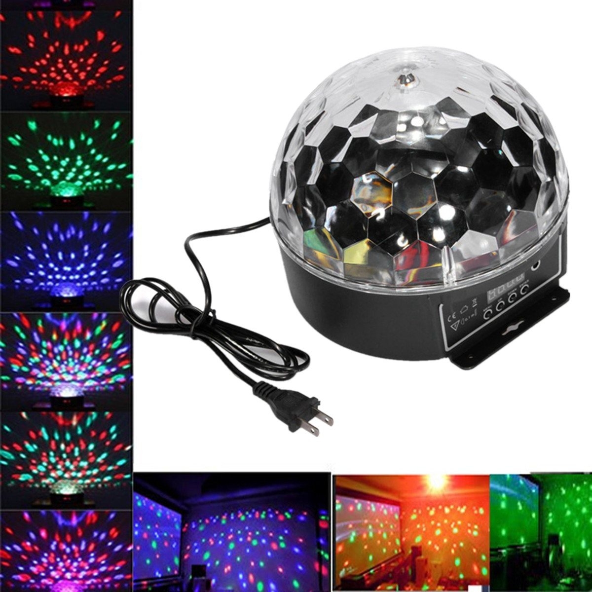 Smuxi DJ Disco Ball 20W Sound Activated Laser Projector RGB Stage Lighting Effect Lamp Christmas KTV Music Party Light mini led laser projector christmas decoration laser disco light stage effect light dj voice activated ktv xmas party music light