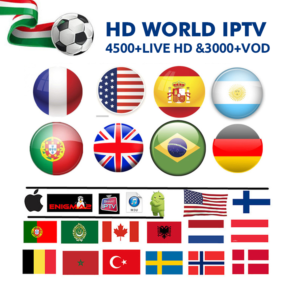 IPTV Europe Nordic Israel Sweden Spain Portugal Italy Dutch UK Arabic IPTV M3U Subscription 4 Android Smart TV Mag xxxx hot-in Set-top Boxes from Consumer Electronics