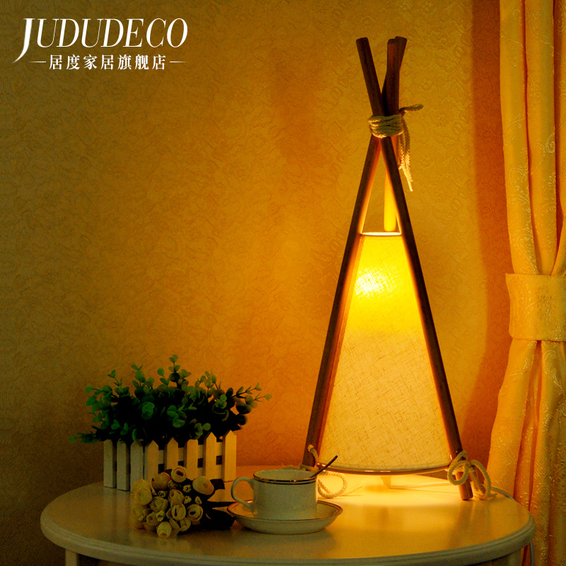 Bedroom Bedside Desk Lamp Japanese Northern Europe Cozy Countryside Lovely Study Bedside Lamp Concise Modern Originality north european style retro minimalist modern industrial wood desk lamp bedroom study desk lamp bedside lamp