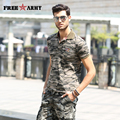 Large Size Brand T Shirts Men Fashion Summer Tees And Tops Turn Down Collar Camouflage Casual T Shirt Men's Clothing Ms-6251B