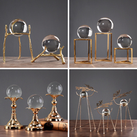 Photography Crystal Ball Ornament Globe Divination Quartz Magic Glass Ball Home Decor Sphere cristal Crystal crafts Desk drawer
