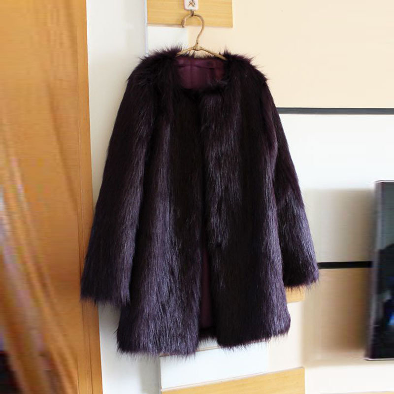 Abrigo zorro negro